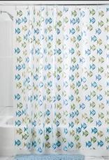 27780 Shower Curtain Fishy PEVA SC Blue Green
