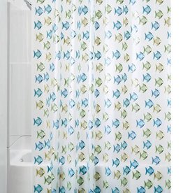 Shower Curtain Fishy PEVA Blue Green
