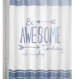 Shower Curtain Be Awesome Blue