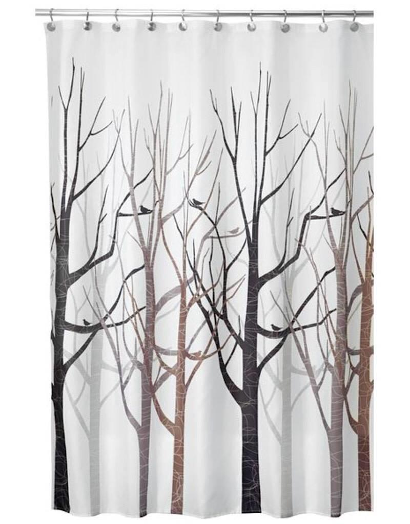 45020 Shower Curtain Forest Gray Black