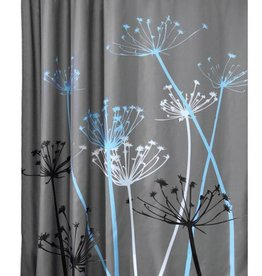 Shower Curtain Thistle Gray Blue