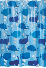 32580 Shower Curtain Moby PEVA SC Blue