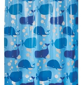 Shower Curtain Moby PEVA Blue