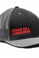 Black/Grey Cedar Hill Longhorns Mesh Cap