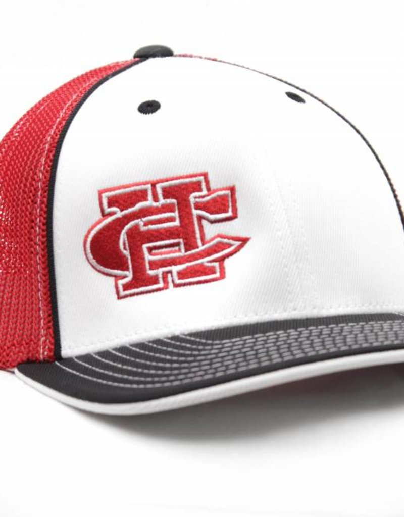 White/Black/Red CH Mesh Cap
