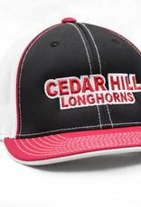 Black/White/Red Cedar Hill Longhorn Mesh Cap