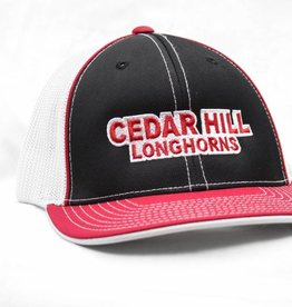 Black/White/Red Cedar Hill Longhorn Mesh Cap