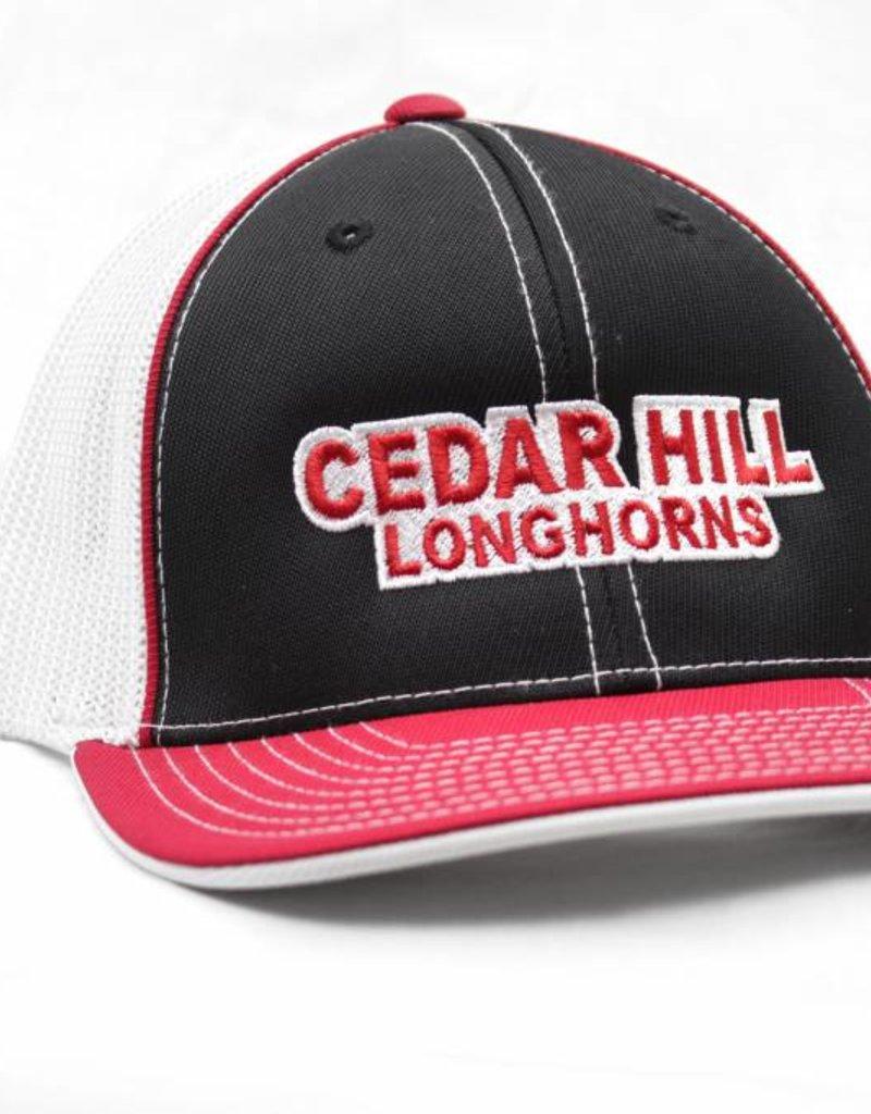 34d0ae23dcf Black White Red Cedar Hill Longhorn Mesh Cap - Longhorn Central