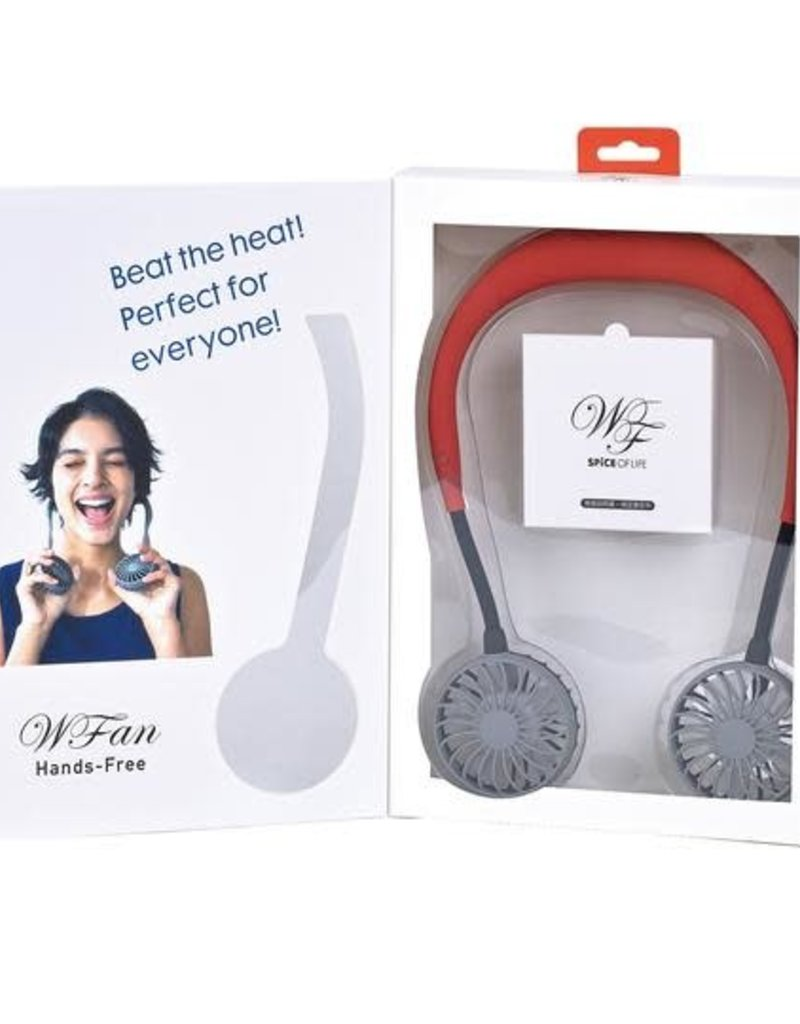 W Fan Wearable Hands Free USB Fan