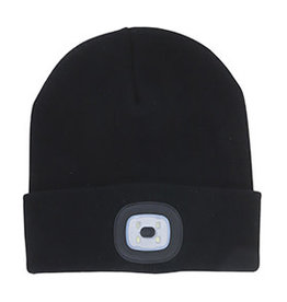 Night Scout Rechargeable LED Beanie - Black