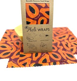 Meli Reusable Beeswax Food Wrap 3 Pack