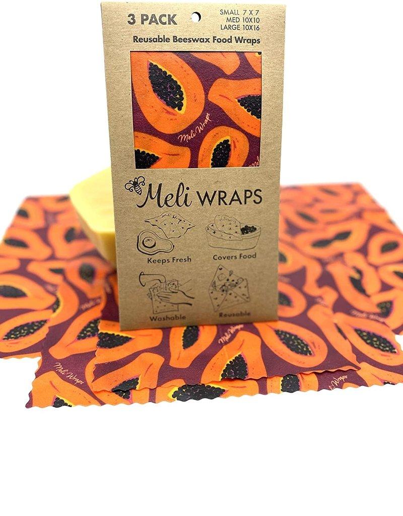 Meli Reusable Beeswax Food Wrap 3 Pack