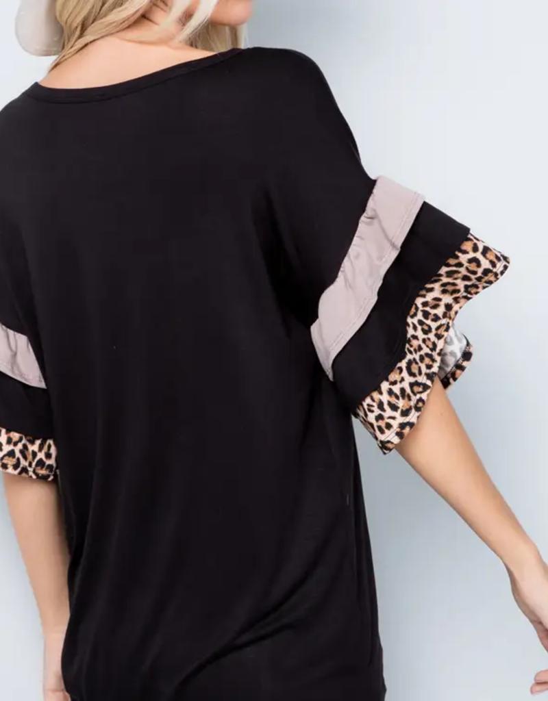 Celeste Clothing Adorable Ruffle Sleeve T