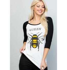 Super Soft Queen Bee Baseball T