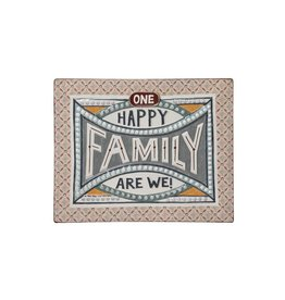 """One Happy Family We Are Tin Sign - 18.25"""" x 14.5"""""""