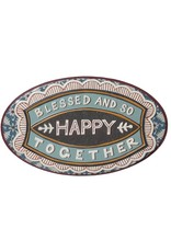 Blessed and So Happy Together Tin Sign