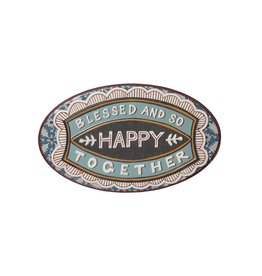 "Blessed and So Happy Together Tin Sign - 19.5"" x 12"""