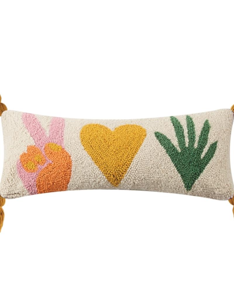 Peace, Love, Plants Rug Hook Pillow