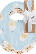 Mud Pie Bibs & Spoon Gift Set