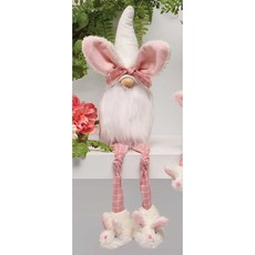 """Gnome Bunny 20"""" With Plaid Legs Bunny Slippers"""