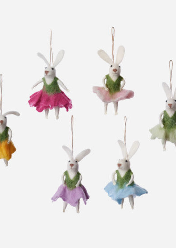 """Felted Wool Ballet Bunny 5.25"""""""