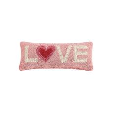 LOVE 2 Tone Heart Rug Hook Pillow