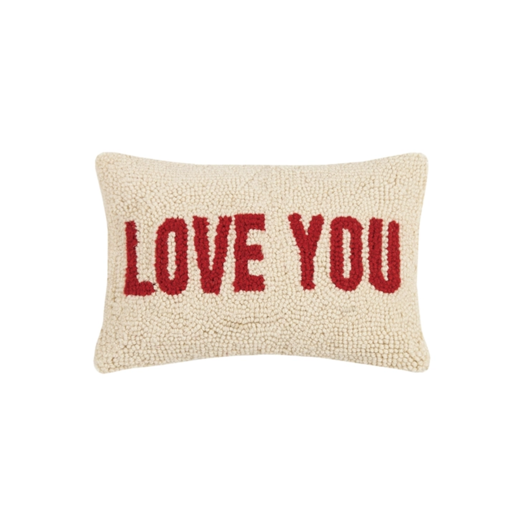 LOVE YOU Rug Hook Pillow