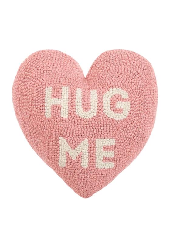 HUG ME Rug Hook Pillow