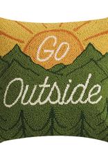 Go Outside Rug Hook Pillow