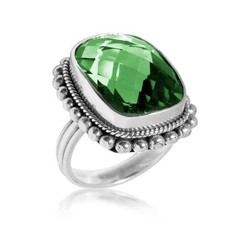 .925 Sterling Faceted Large Gemstone Ring - SPECIAL ORDER