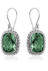 .925 Sterling Faceted Gemstone Earrings