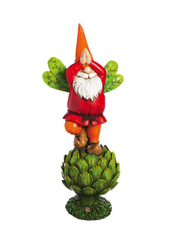 "Vegetable Garden Gnome Statue - 12"" Tall"