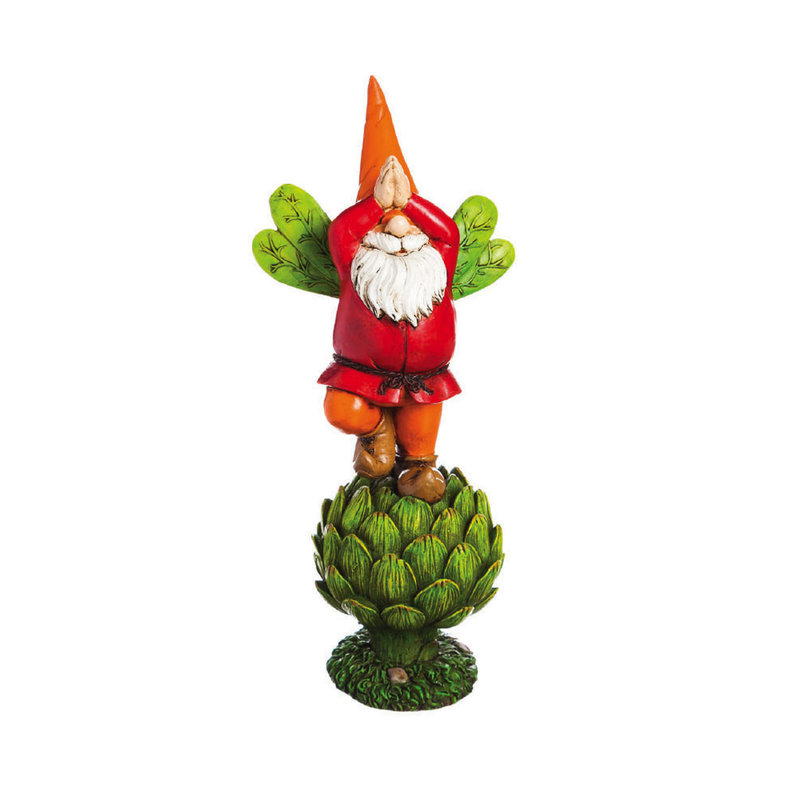 "Vegetable Garden Gnome Statue - 12"" Tall"