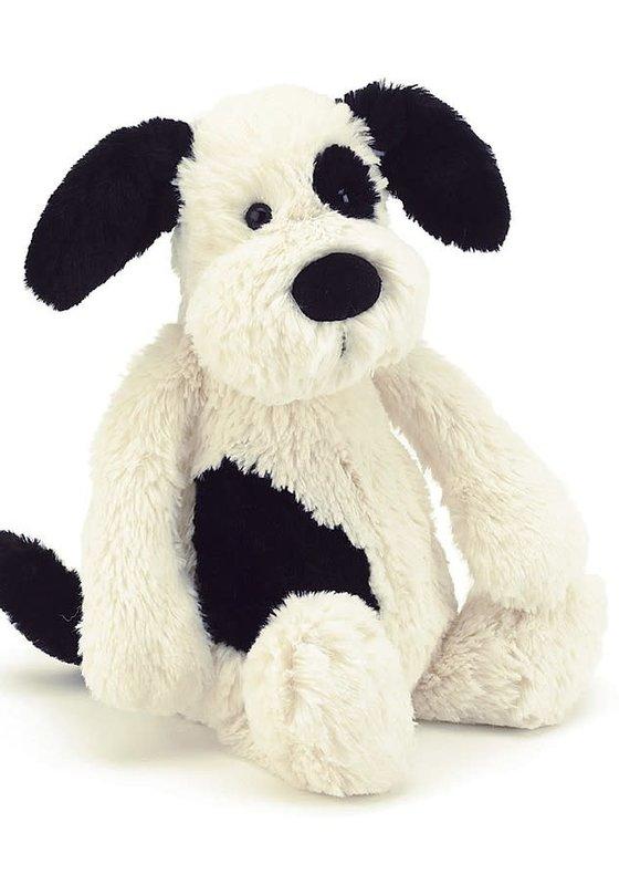 "Jellycat Bashful Black & Cream Puppy - 12"" MEDIUM"