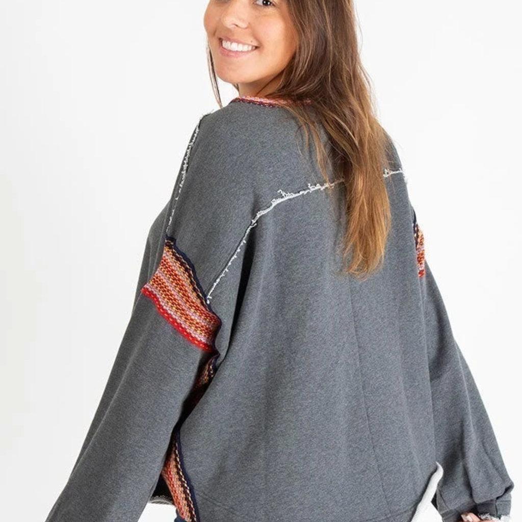 Natural Life Trim Sweatshirt