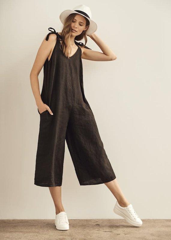 Charlie B Black Linen Jumpsuit