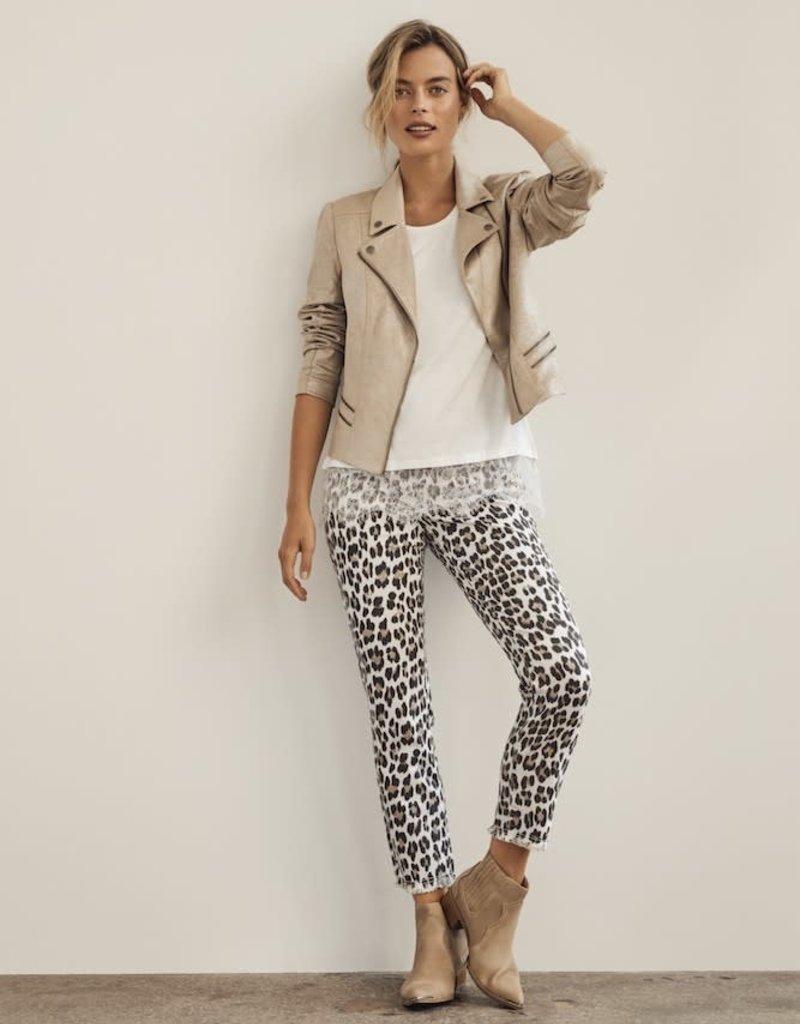 Charlie B Cheetah Print Jean