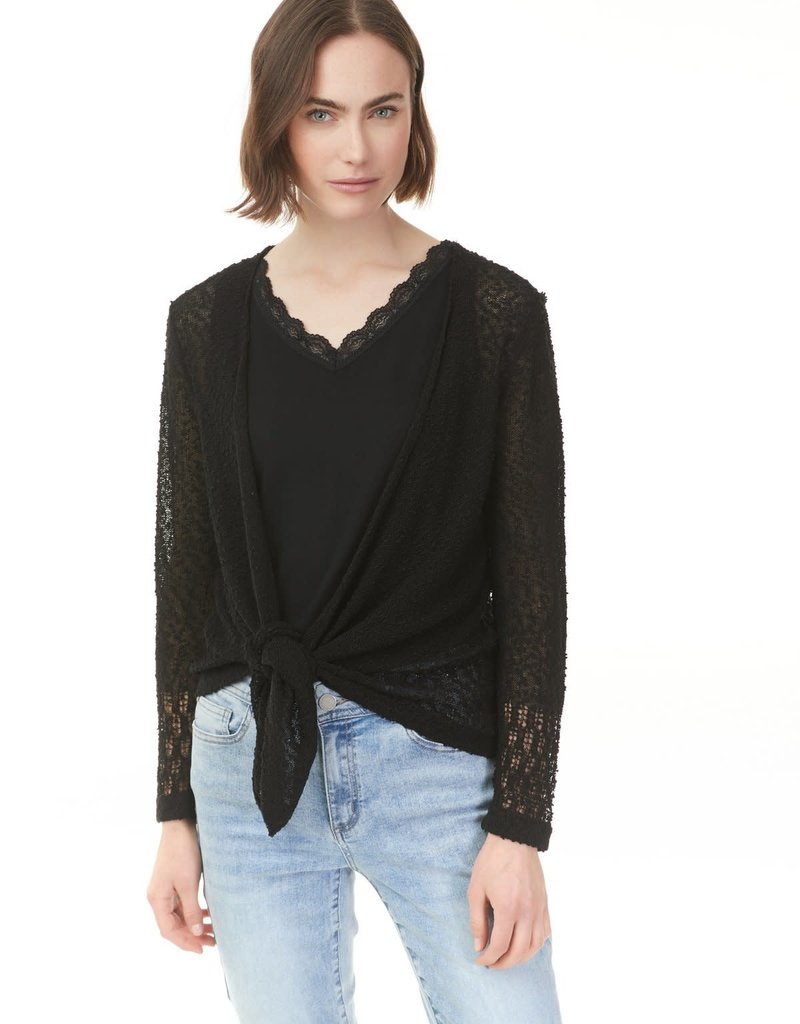 Charlie B Knit Tie Front Cardigan Sweater