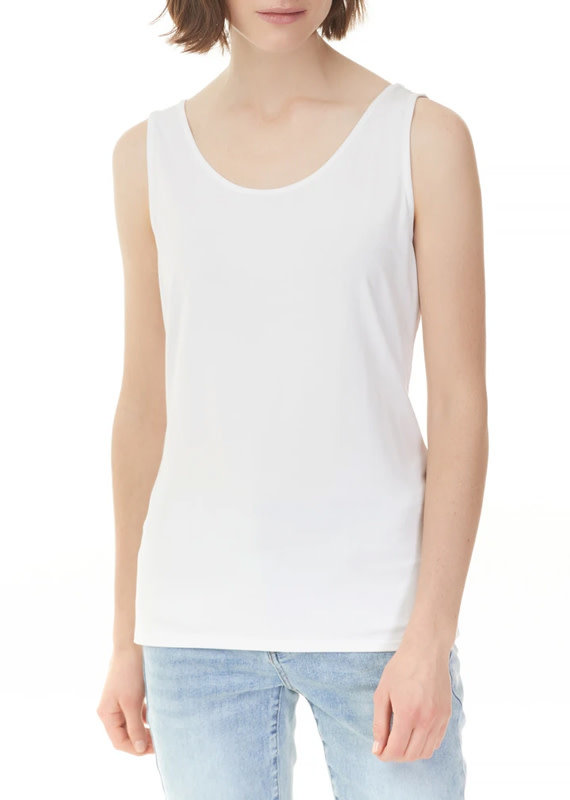 Charlie B Stretch Bamboo Tank - White