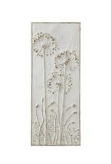 Creative Co-Op Embossed Metal Wall Panel - Open Dandelions
