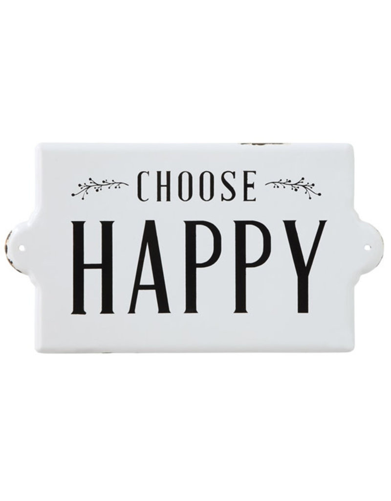 Creative Co-Op Metal Wall Decor - Choose Happy