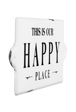 Creative Co-Op Metal Wall Decor - This Is Our Happy Place