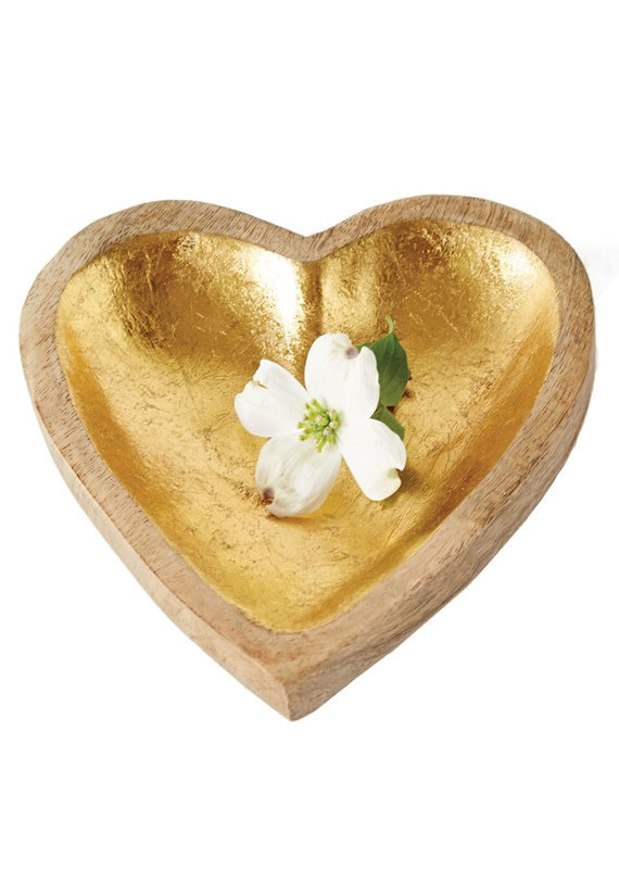 Creative Co-Op Mango Wood Heart Tray