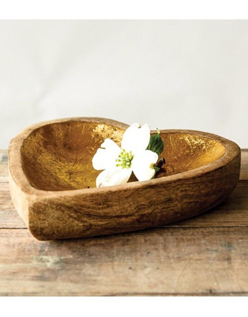 Creative Co-Op Mango Wood Heart Tray