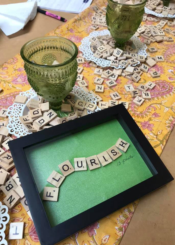 The Studio @ Linnea's Scrabble Art