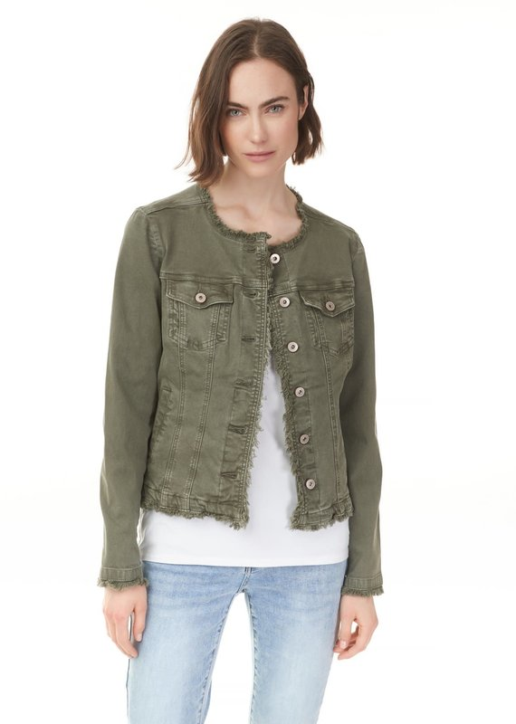 Charlie B Raw Edge Denim Jacket - Dew