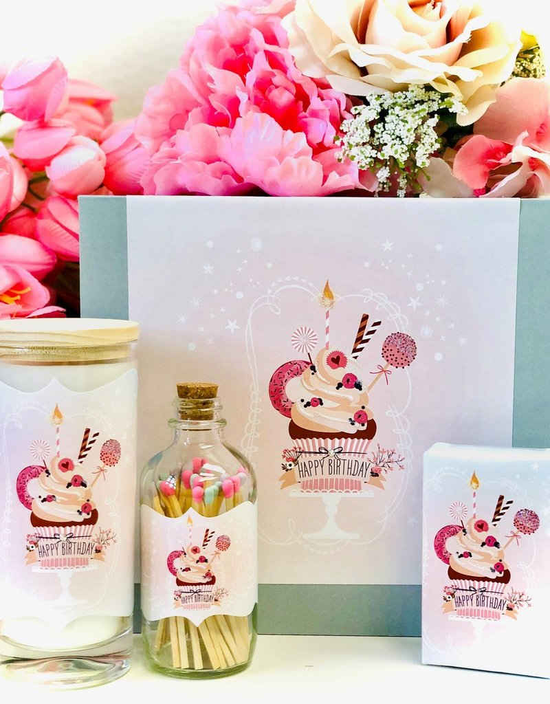 Luck & Love Beautiful Gift Box - Birthday Cupcake