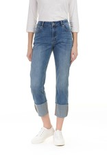 Charlie B Charlie B Light Blue Wash Wider Leg Big Cuff Jean
