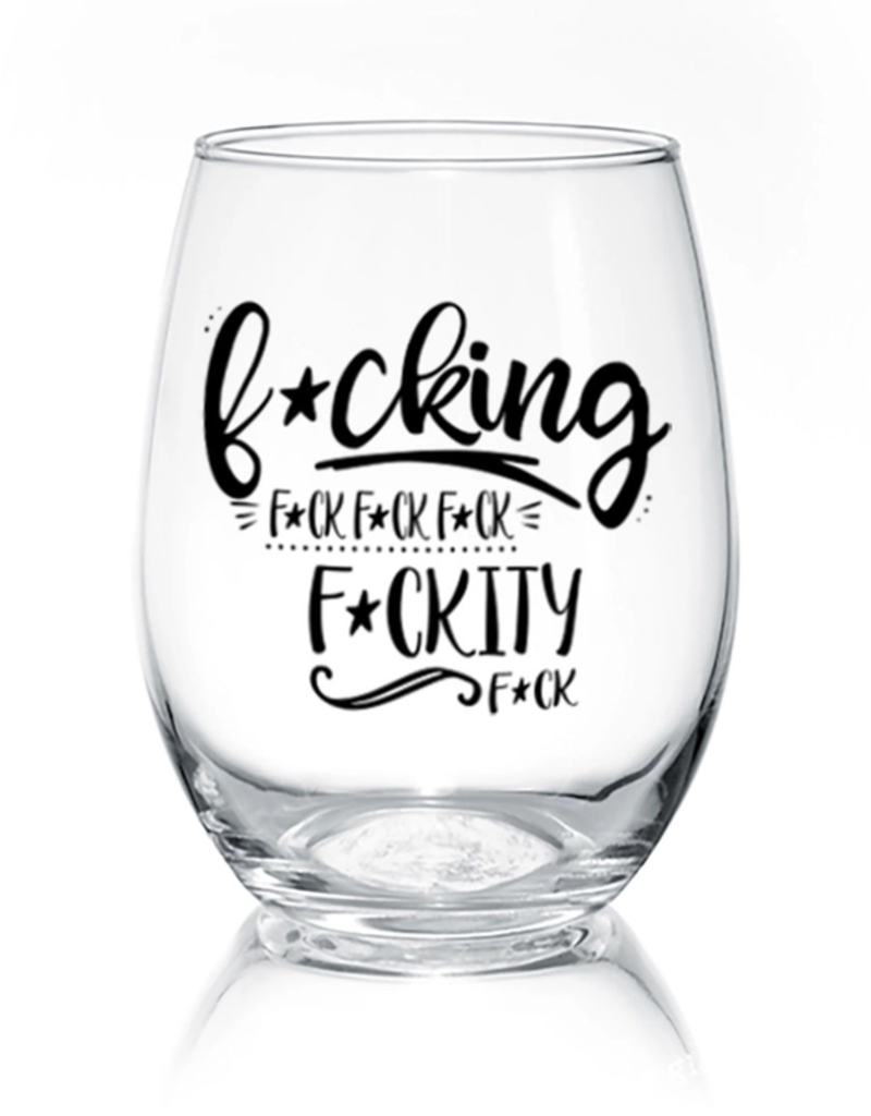F---Kity 17 oz Stemless Wine Glass