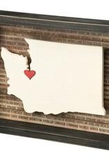 WA State Box Sign